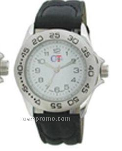 Cititec Ladies Analog Quartz Watch (Black, White Face/ Numbers 1-12)