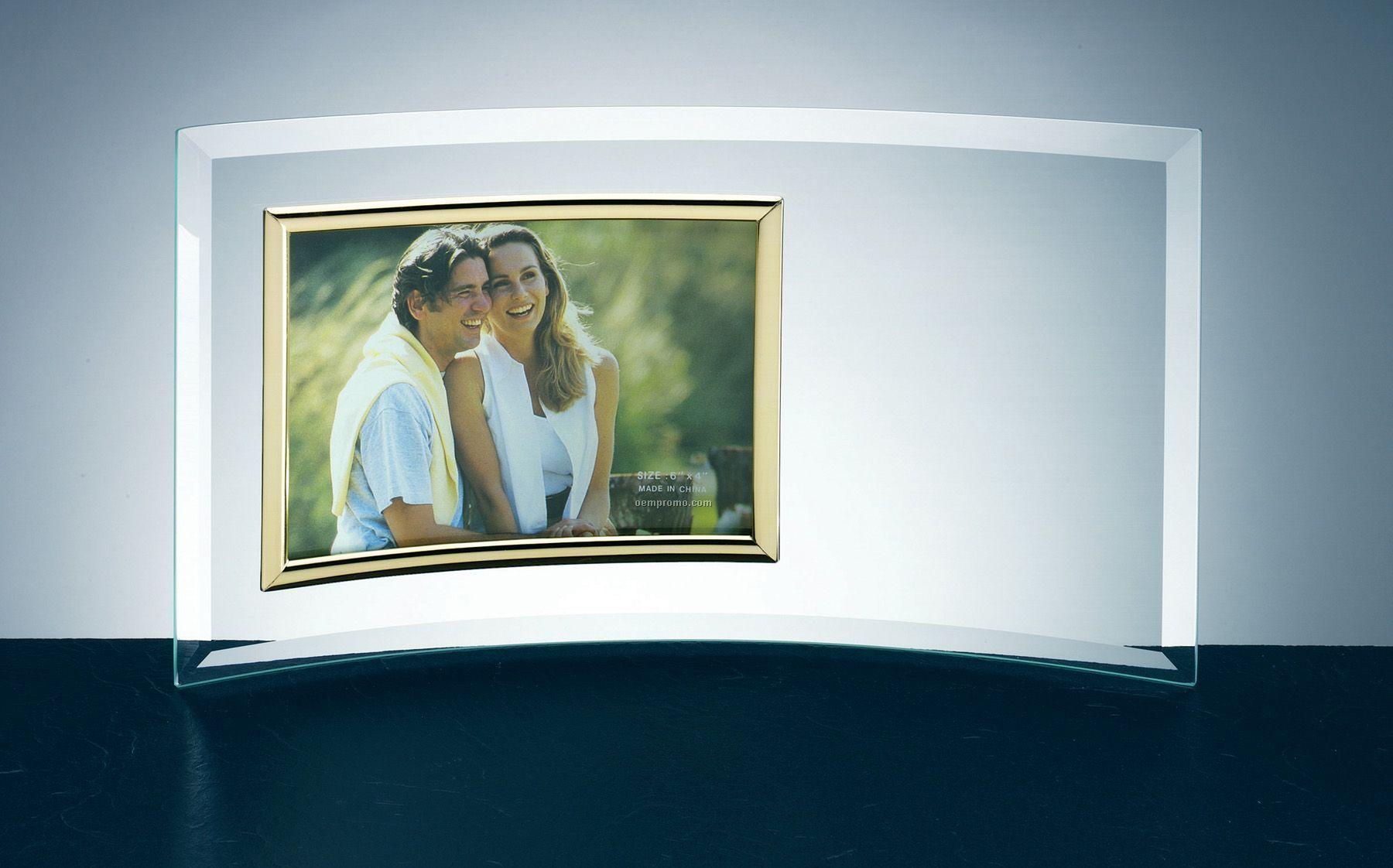 "Curved Jade Glass Frame (3 1/2""X5"" Photo)"