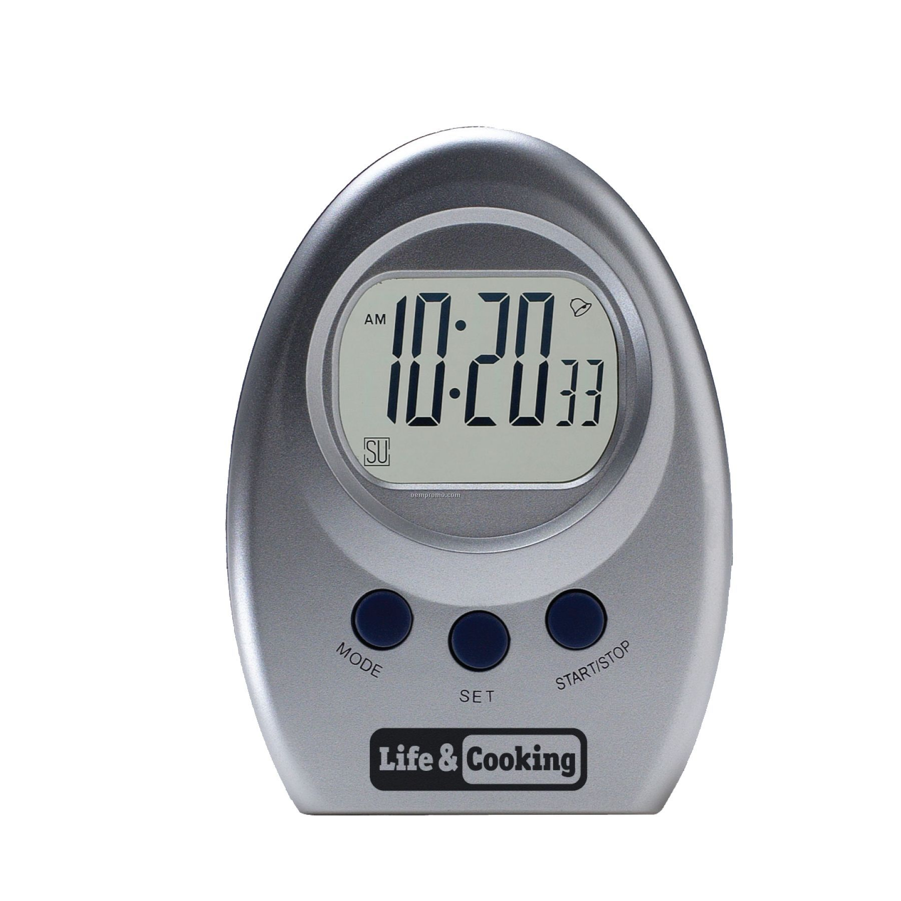 Eggshape Alarm W/Transparent Display