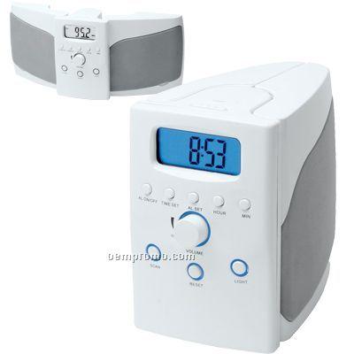 Foldable Speaker System W/ Digital Scan Radio & Alarm Clock