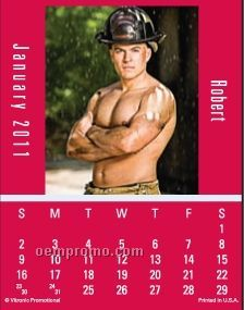 Super Size Firemen Press-n-stick Calendar (After 8/1/11)