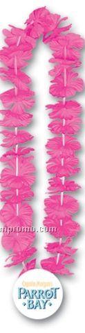 "36"" Silk 'n Petals Leis W/ Plastic Medallion (7 Flower Colors)"
