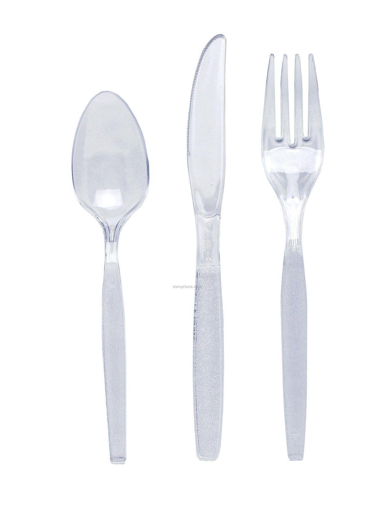 Clear Colorware Plastic Fork