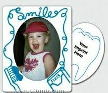 Dental Theme Oval Center Picture Frame Magnets