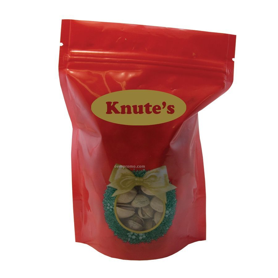 Holiday Wreath Large Window Bag With Pistachios