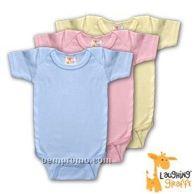 Infant Short Sleeve Cotton Onesie ( Pastels)