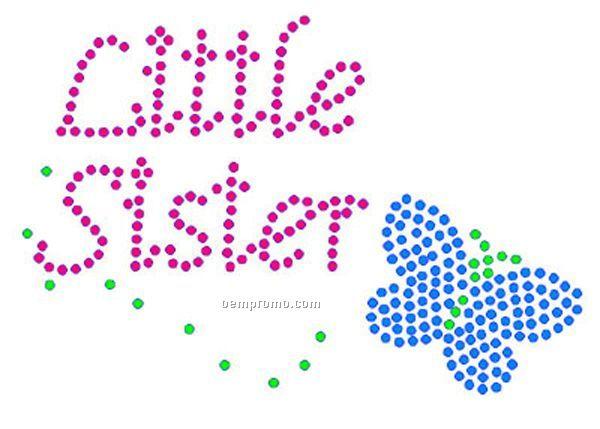 Little Sister Rhinestone Transfer