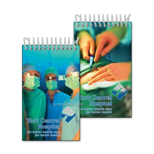 Mini Notebook With 3d Lenticular Image Of An Operating Room (Custom)