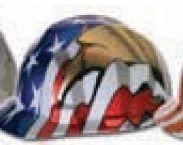 Msa Freedom Hard Hat - American Flag & 2 Eagles