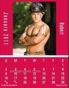 Super Size Firemen Press-n-stick Calendar (Thru 8/1/11)