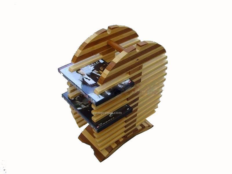 2-tone Wooden DVD Rack