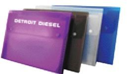 6 Pocket Letter Size File With Button Closure