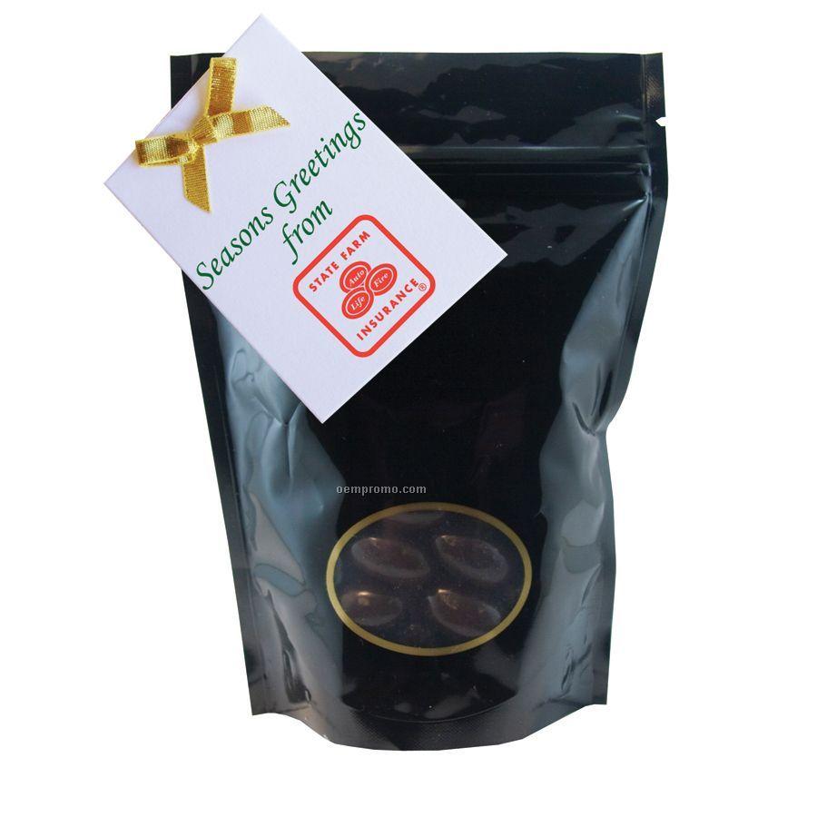 Black Large Window Bag With Chocolate Almonds