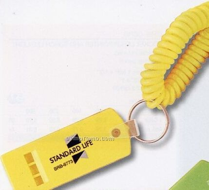 Bracelet Key Tag W/ Emergency Whistle