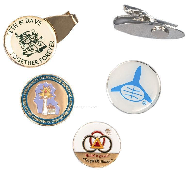 """Clip2me Golf Clip With 3/4"""", 7/8"""" Or 1"""" Ball Marker"""