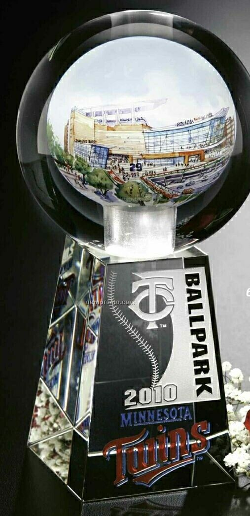 """Crystal Hand Painted Sphere Award (4 1/2"""" Sphere)"""