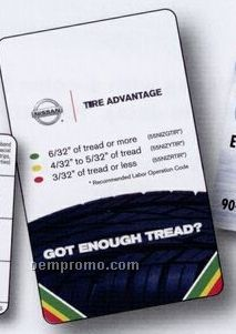 Custom Tire Tread Chart Card (4cp Front & Back)