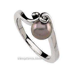 Ladies' 14kw 7mm Cultured Pearl Ring