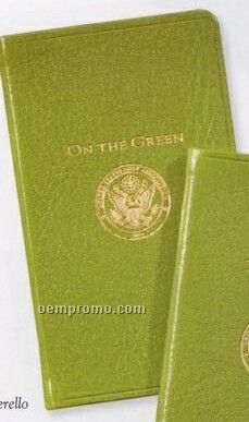 Usga On The Green Score Book W/ Traditional Premium Leather Cover