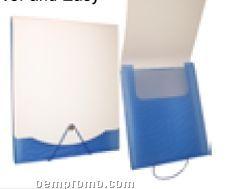7 Pocket White Smooth Surface File Holder W/ Elastic Band