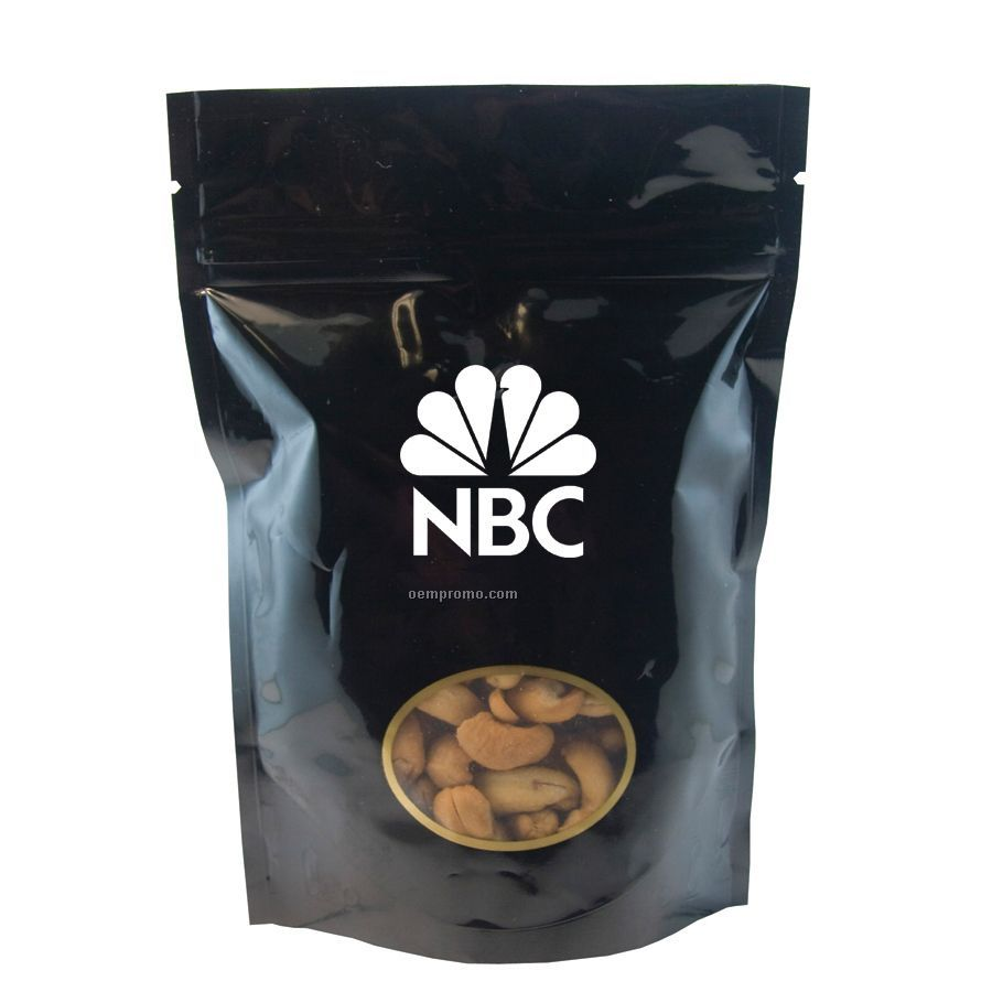 Black Large Window Bag With Cashews