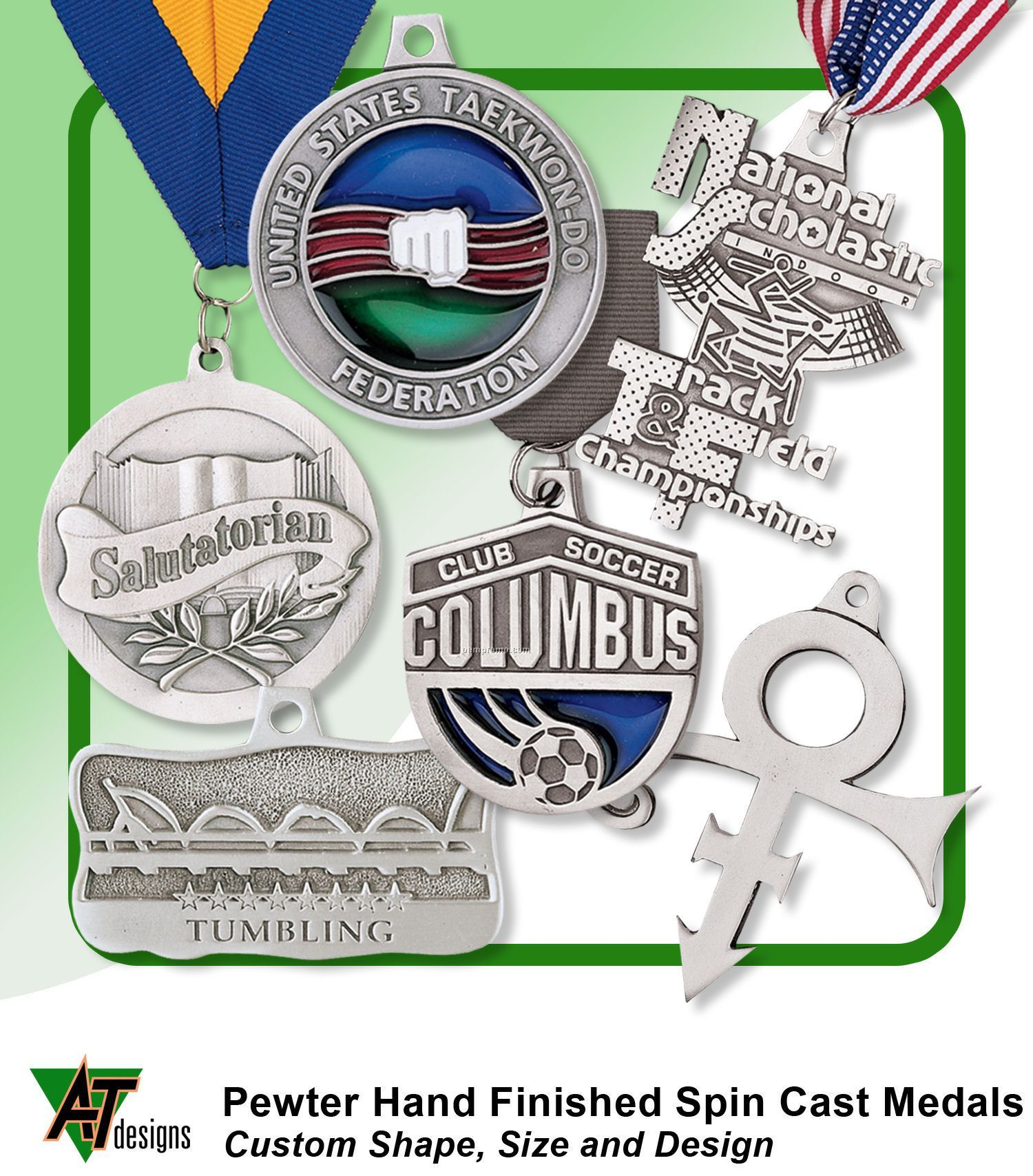 "Pewter Medals Spin Cast (1-1/4"")"