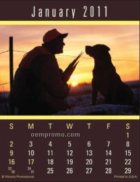 Super Size Sportsmen Press-n-stick Calendar (Thru 8/1/2011)