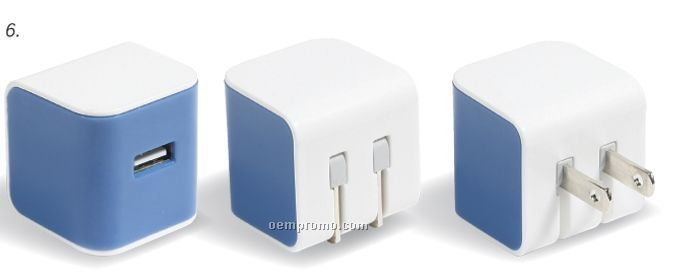 Travel Cube Power Adapter 2/ USB Charger
