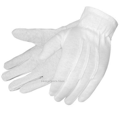 Formal White Dress Gloves W/ Pvc Dots (S-xl)