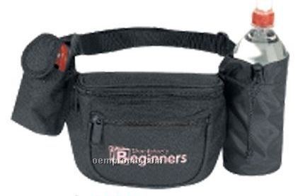 Poly Fanny Pack W/ Bottle Holder & Cell Phone Pouch