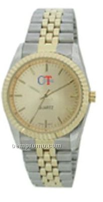 Cititec Gents Analog Quartz Watch (Silver & Gold)