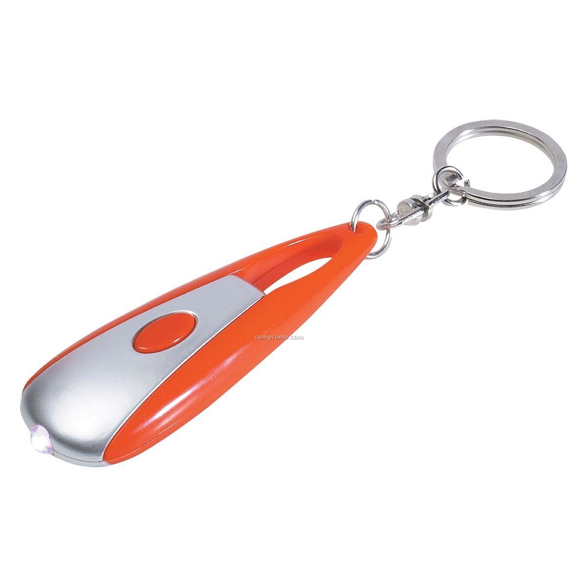 Cosmic Orange Flashlight Keychain