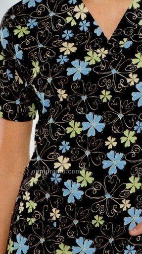 H.q. Flower Scroll Poplin Warm Up Shirt
