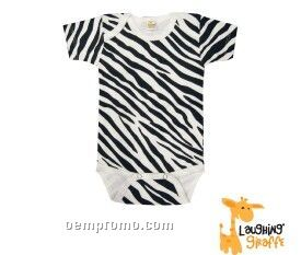 Infant Short Sleeve Cotton Onesie (Zebra Print)