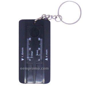 Keychain With Digital Tire Gauge