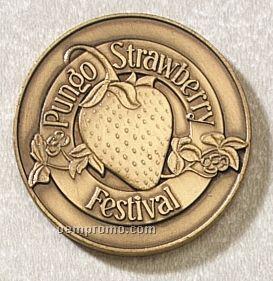 """Series 3625-b Die Struck Brass Coin (1 3/4""""X3mm Thick)"""