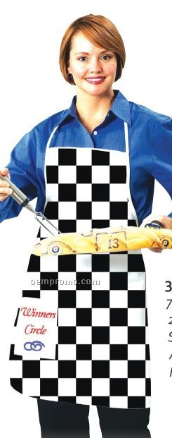 Checker Flag Apron (Blank)