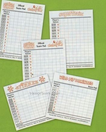 Pip Score Pad For Dominoes
