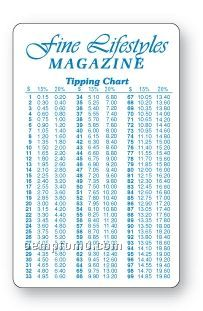 """Plastic Tip Chart Card (0.020"""" Thick)"""