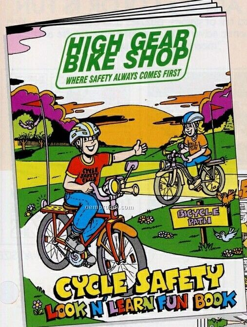 """8""""X10-5/8"""" 16 Page Coloring & Fun Book (Bicycle Safety)"""