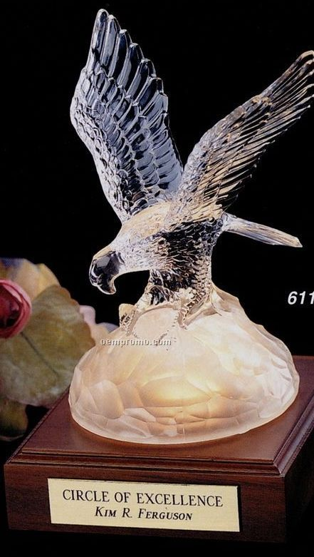 Eagle Gallery Conquering Eagle Lead Crystal Award