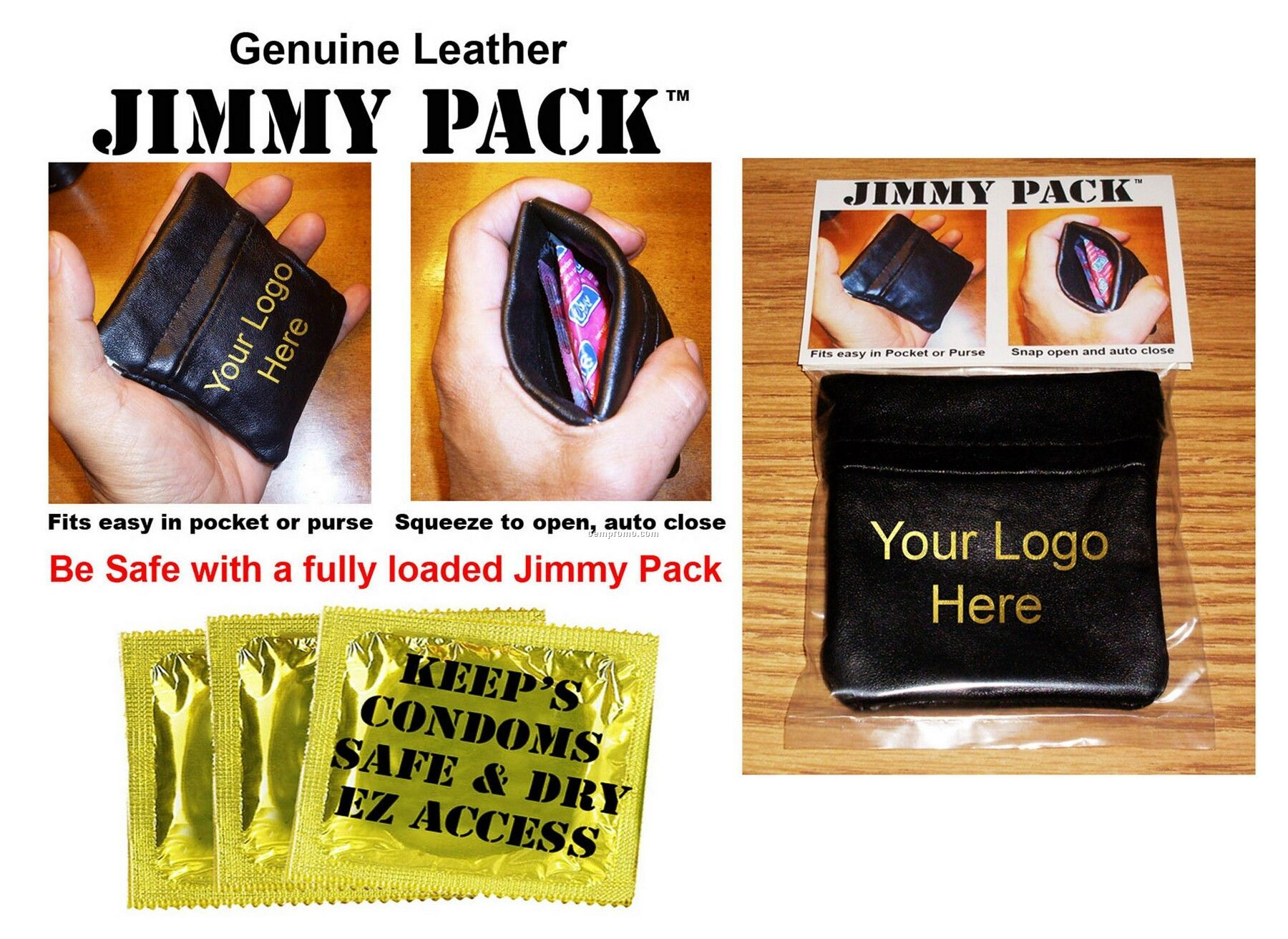Leather Condom Case - Jimmy Pack