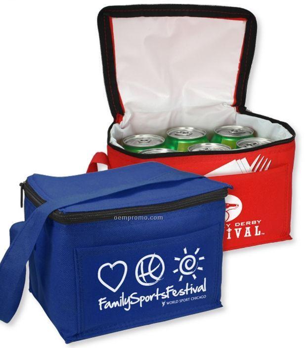 Non-woven Econo 6 Pack Cooler Tote Bag