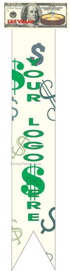 Vegas Roulette Table On $100 Bill Bookmark W/ Black Back