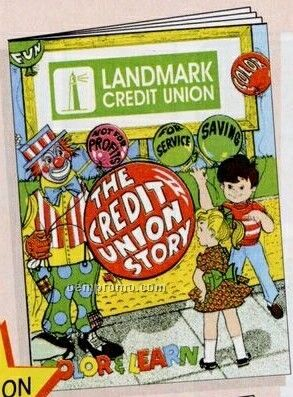 """8""""X10-5/8"""" 16 Page Coloring & Fun Book (Credit Union Story)"""