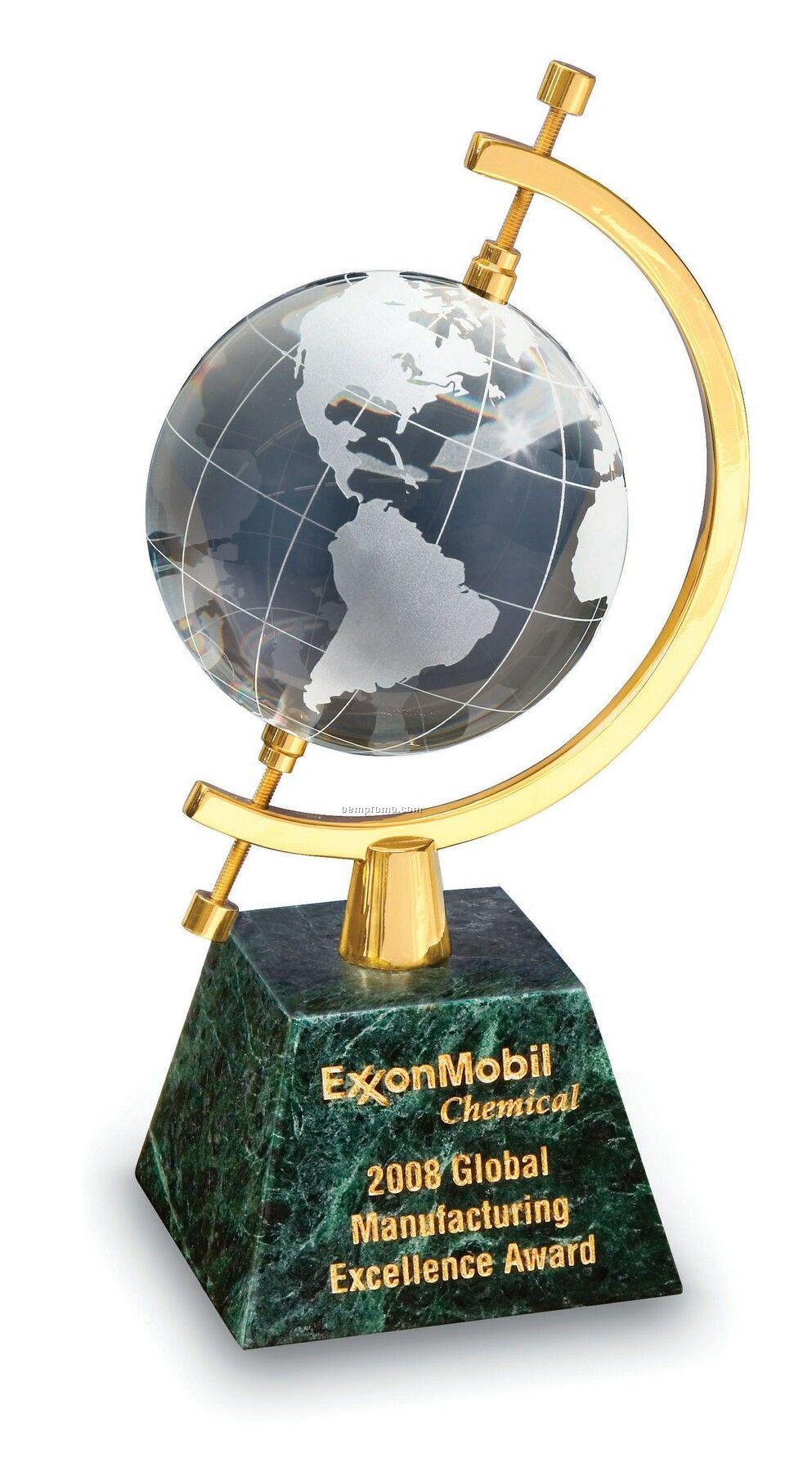 Celestial Globe Award (Green Marble/Crystal Globe)