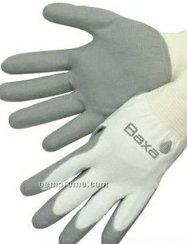 Ultra Thin Polyurethane Palm Coated Knit Gloves - White/Gray (S-xl)