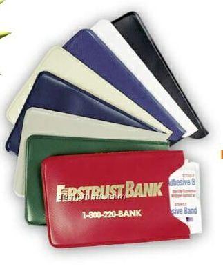 Vinyl Mini First Aid Medical Kit W/ 3 Bandage Strips & Wipes