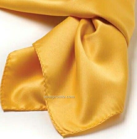 "Wolfmark Solid Series Gold Polyester Satin Scarf (21""X21"")"