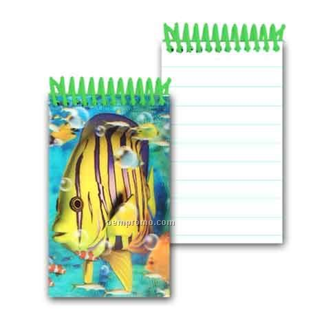 3d Lenticular Mini Notebook Stock/Marine Life (Blanks)